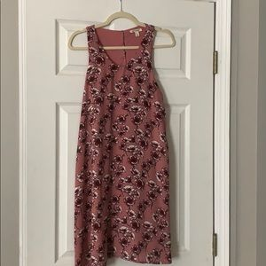 Pink floral swing style dress